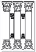 Greek columns etched 100 x 150  sold 3\'s